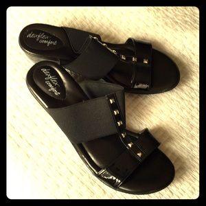 Ladies Dressy Black Sandals, size 13